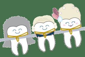 Dibujo de brackets franceses para el blog de 20 preguntas de ortodoncia