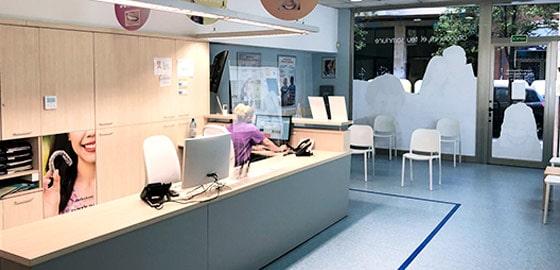 Recepción clínica dental de Tarragona